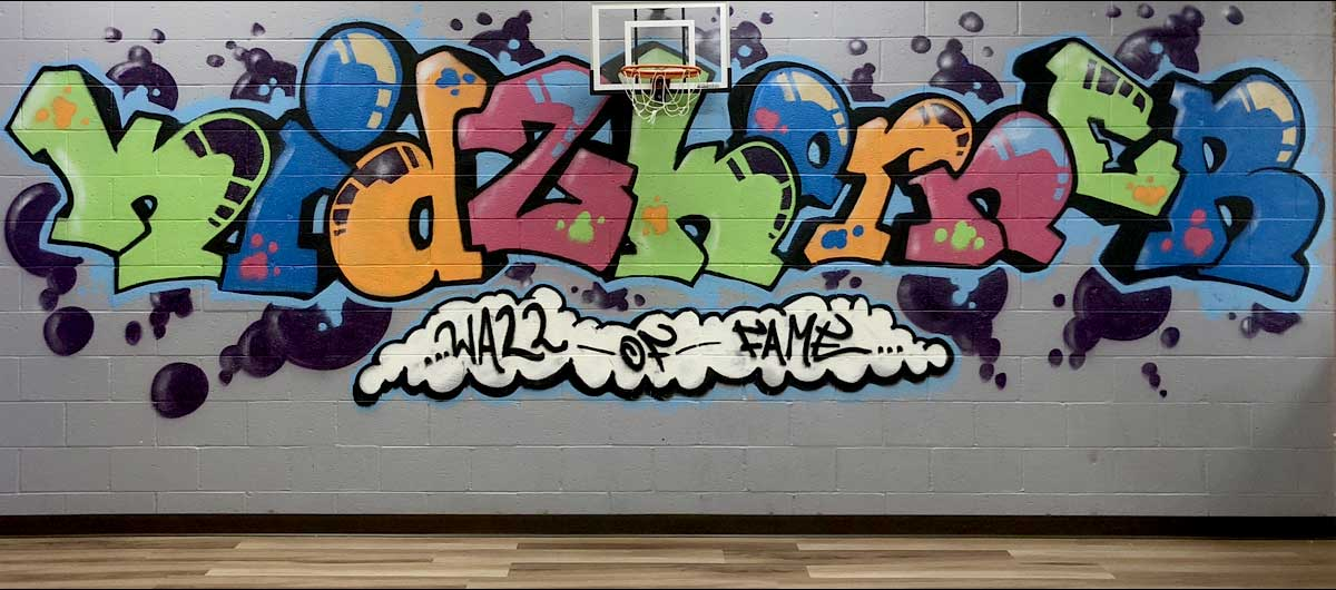 Kidz Korner Guilderland graffiti wall at after school